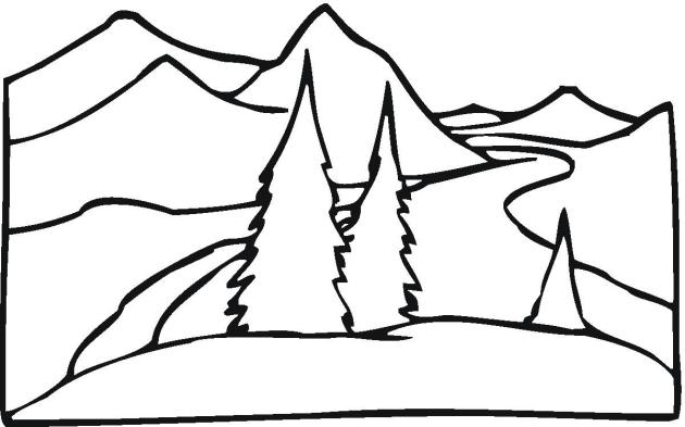 630x393 Free Landscape Coloring Pages
