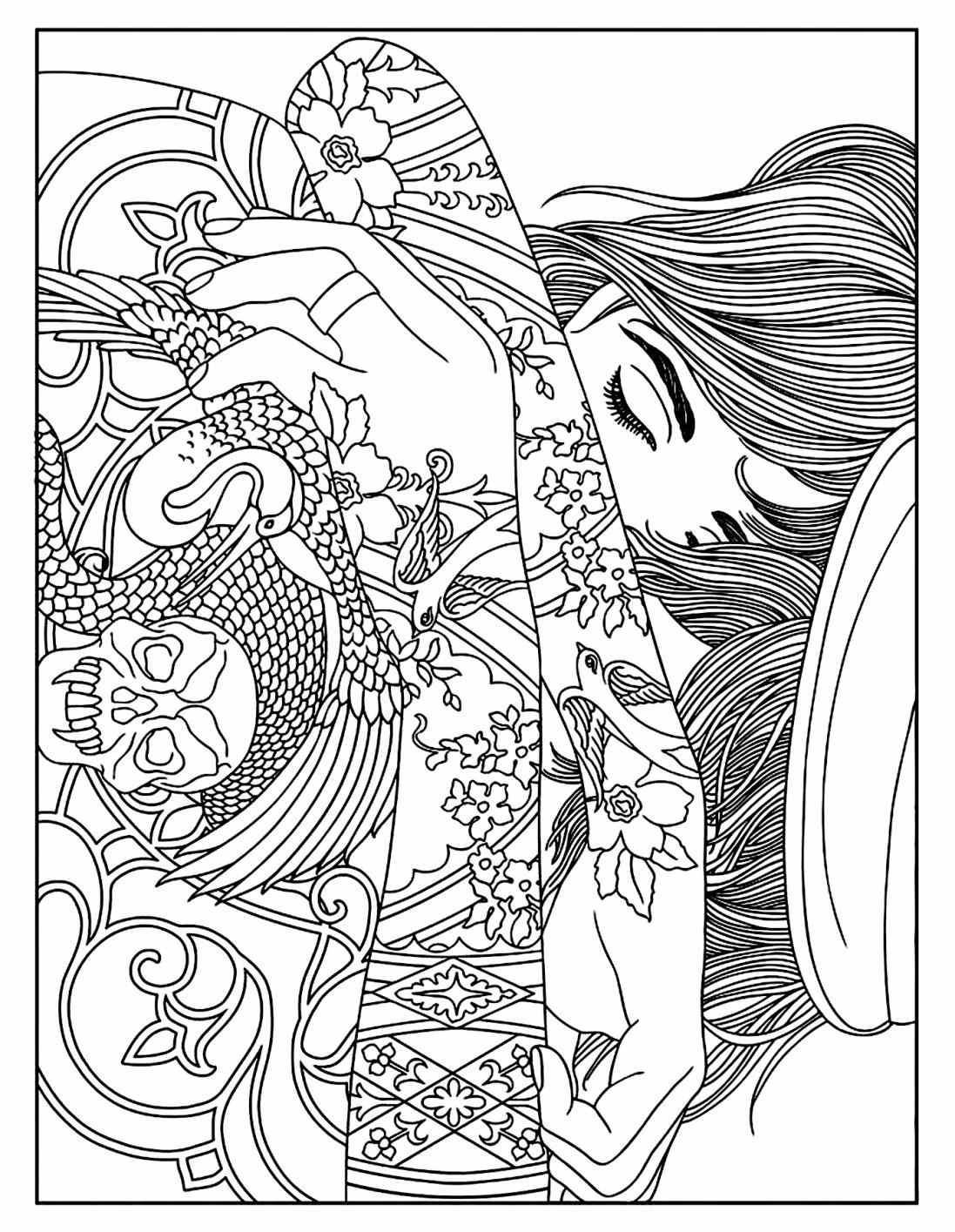 1097x1415 Landscape Celine Landscapes Coloring Pages For Adults Justcolor