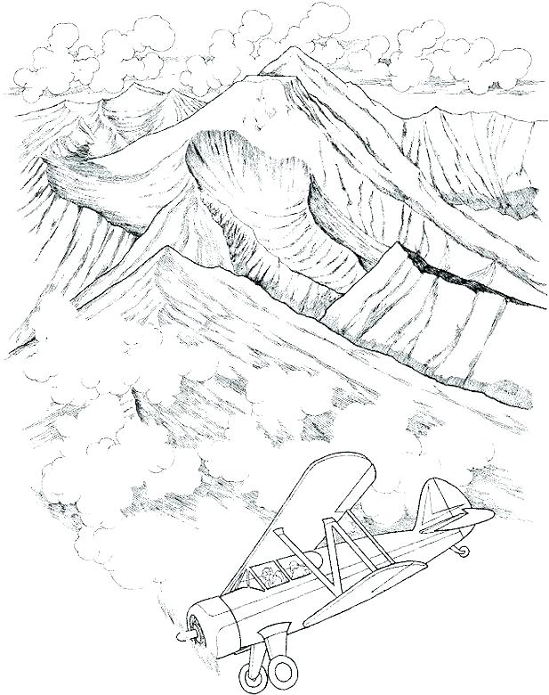 617x780 Landscape Coloring Pages Adults Landscape Coloring Pages