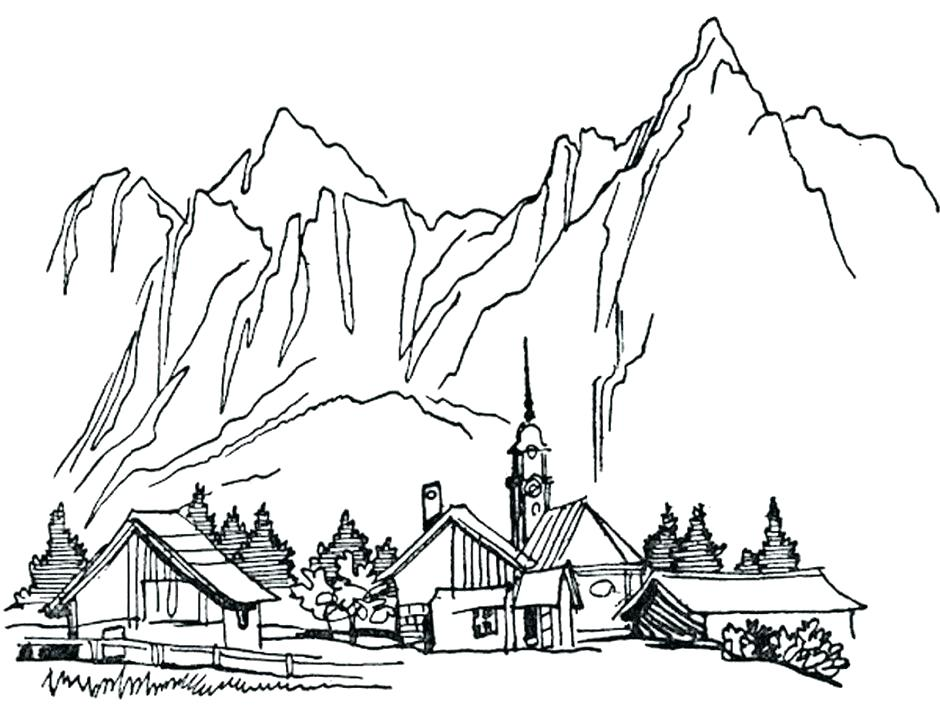 940x705 Landscape Coloring Pages Perfect Landscape Coloring Pages
