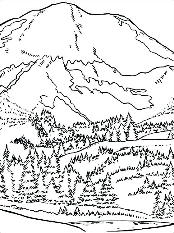 560x750 Mountain Coloring Mountain Coloring Page Coloring Pages Adult