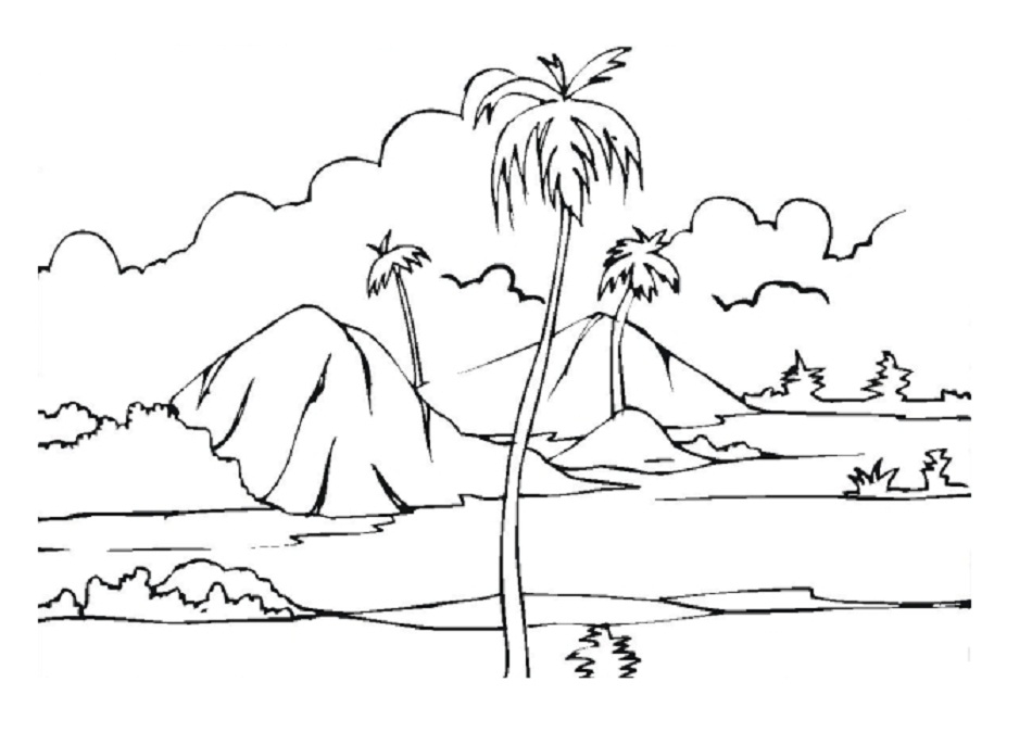 950x686 Island Landscape Coloring Pages Coloring Pages