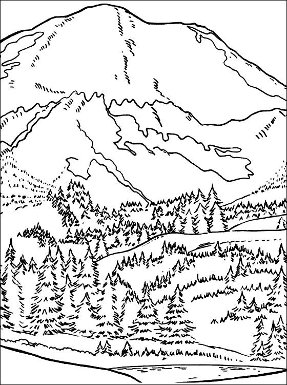 560x750 Mountain Coloring Pages