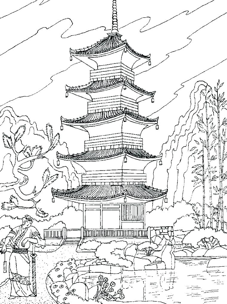760x1017 Beautiful Landscape Coloring Pages Landscapes Coloring Pages