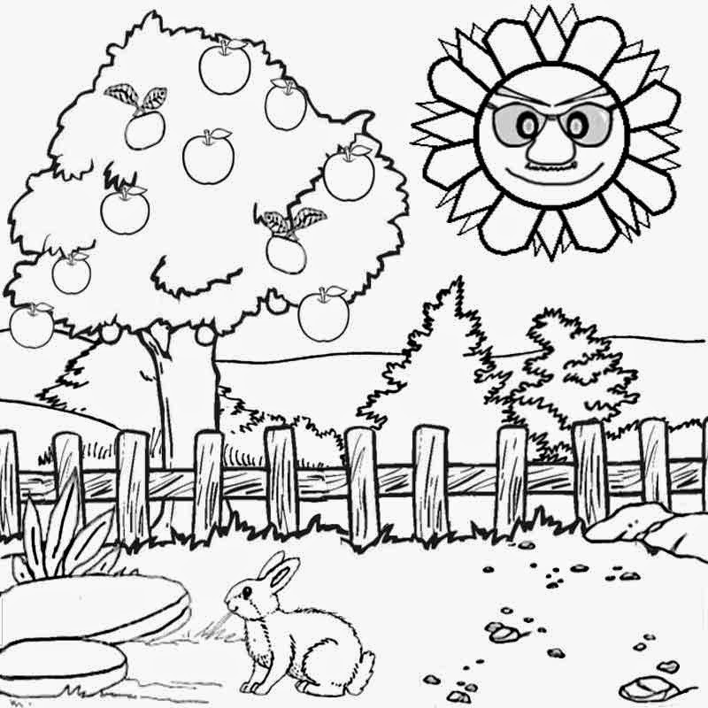 800x800 Scenery Coloring Pages To Print Landscape