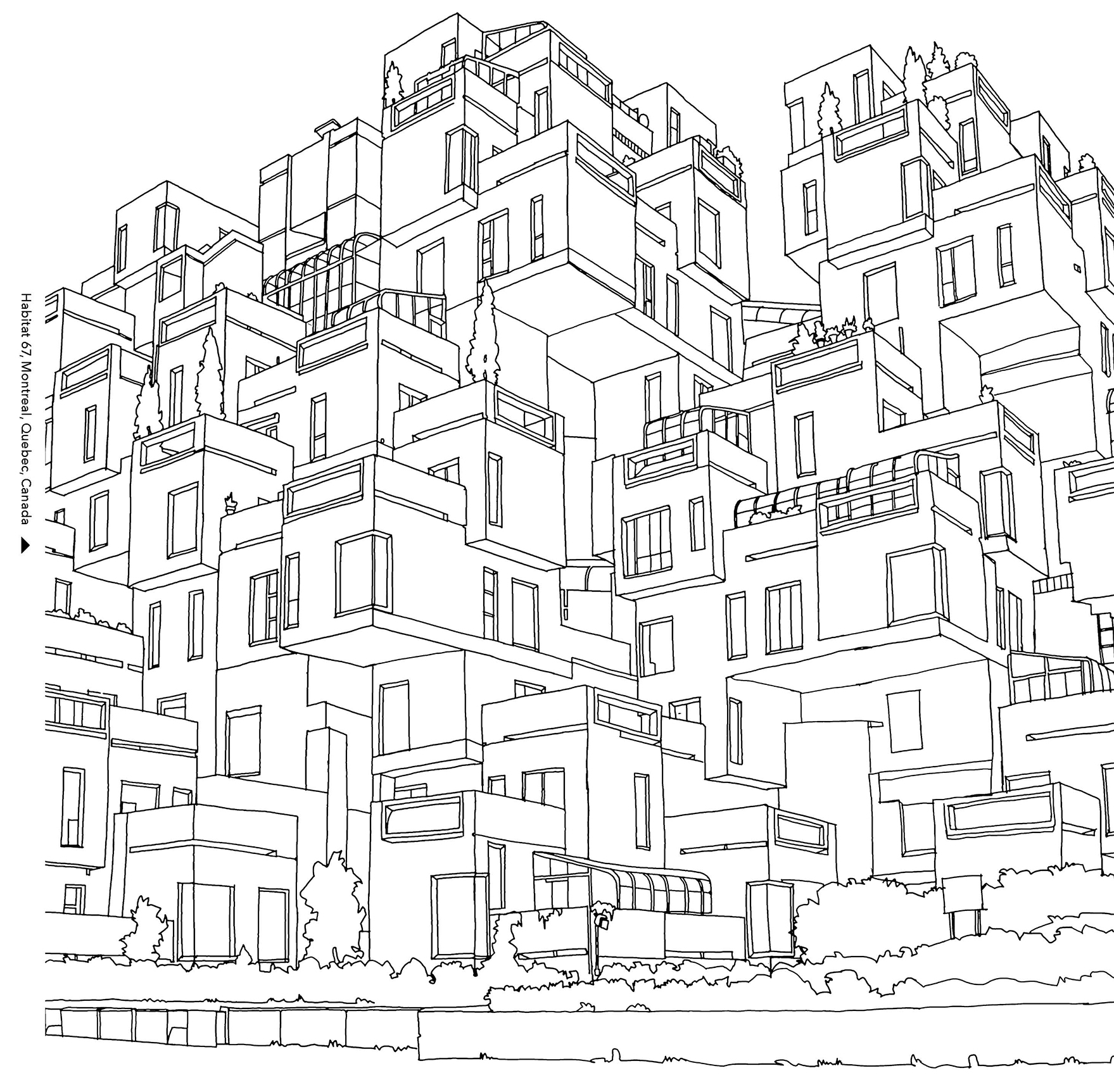 1759x1725 City Landscape Coloring Pages Coloring Books For Grown Ups Free