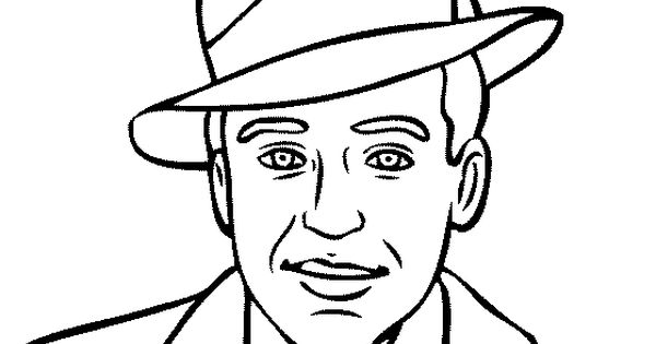 Langston Hughes Coloring Page