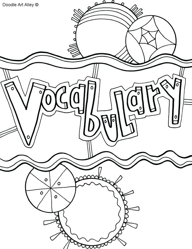 618x800 Language Arts Coloring Pages Vocabulary Coloring Page Fun Color