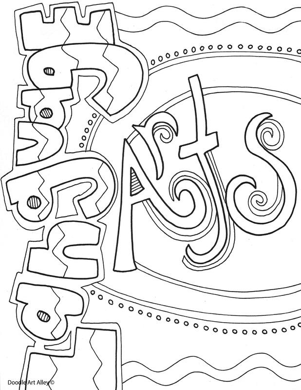 618x800 Language Arts Coloring Pages