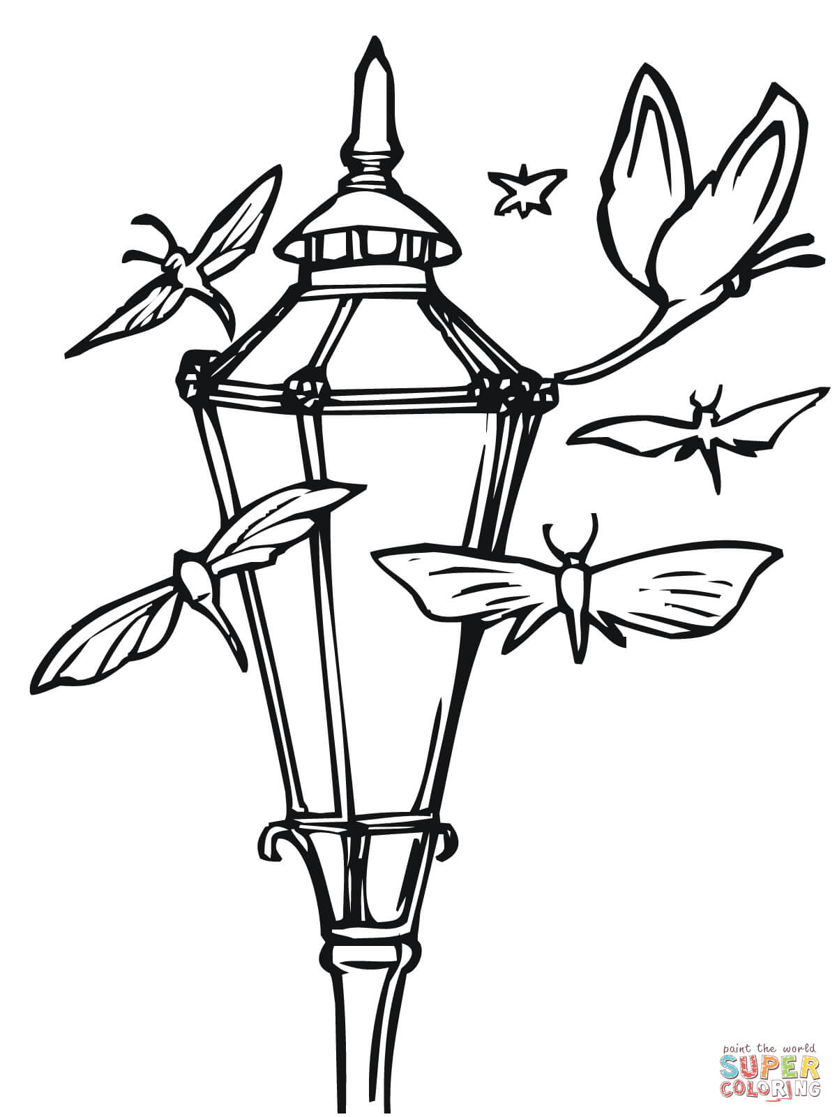 Lantern Coloring Pages
