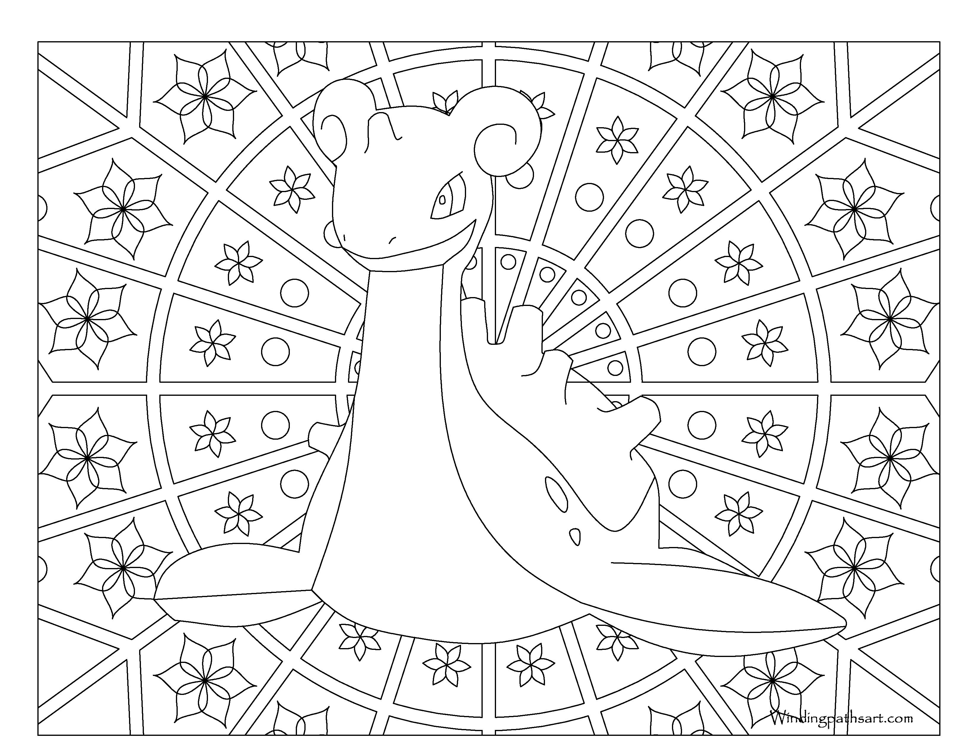 Lapras Coloring Page