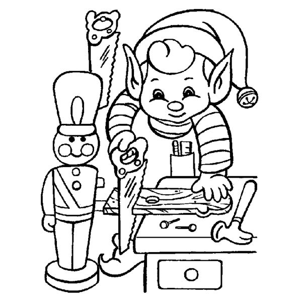 Large Christmas Coloring Pages