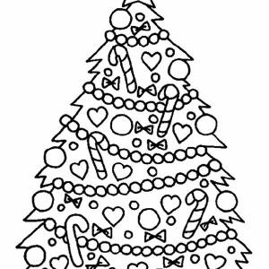 300x300 Christmas Tree Hanging Ornament On Christmas Coloring Page Color