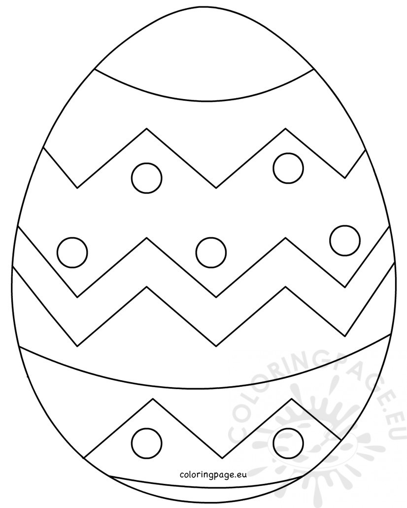 826x1030 Large Easter Egg Patterns Coloring Page