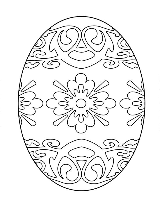 550x712 Coloring Pages Easter Eggs Large