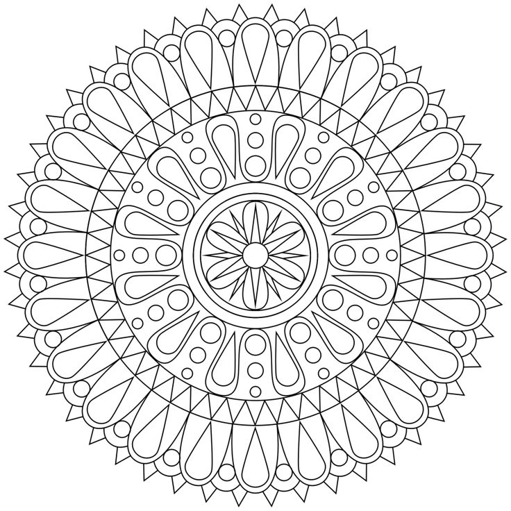 Large Mandala Coloring Pages