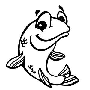 300x300 Bass Fish, Smiling Bass Fish Coloring Pages Smiling Bass Fish