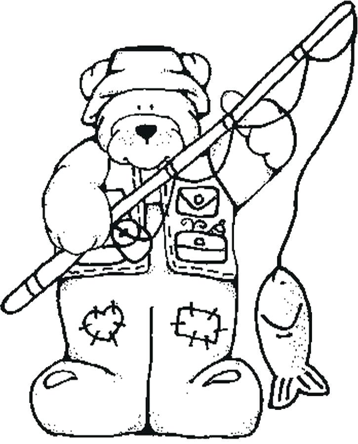 725x900 Fishing Coloring Pages Fish Fishing Coloring Pages To Print