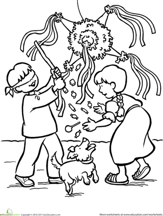 332x440 Las Posadas Coloring Page Spanish, Holidays And December