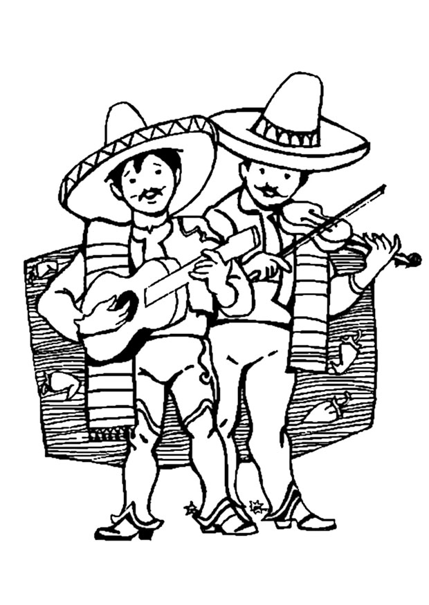 620x875 Mexico Coloring Pages