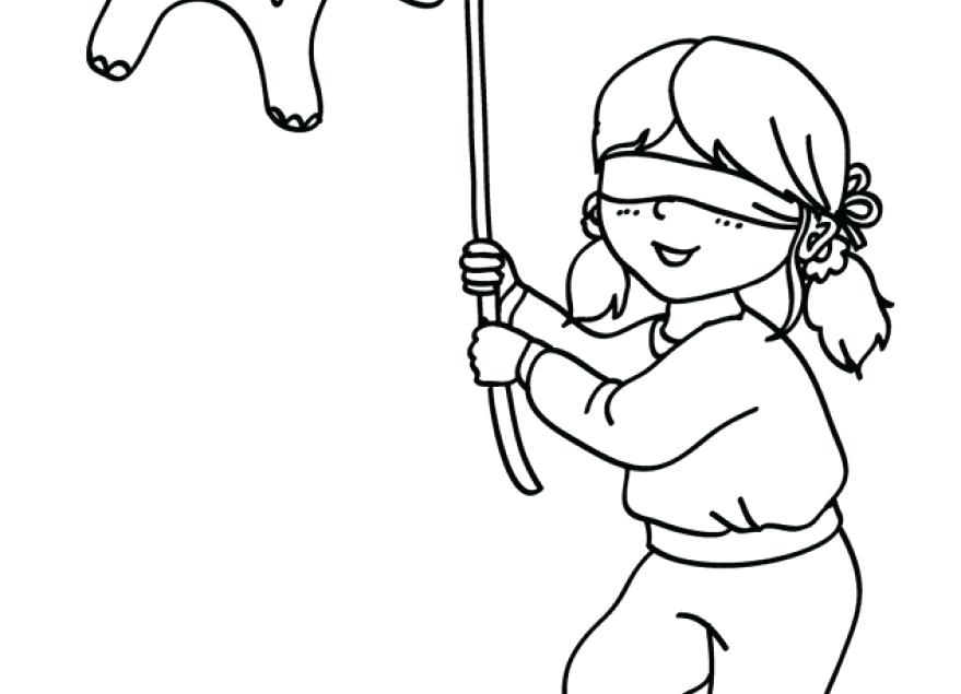 879x635 Las Posadas Coloring Pages Pinata Coloring Page Sketch Templates