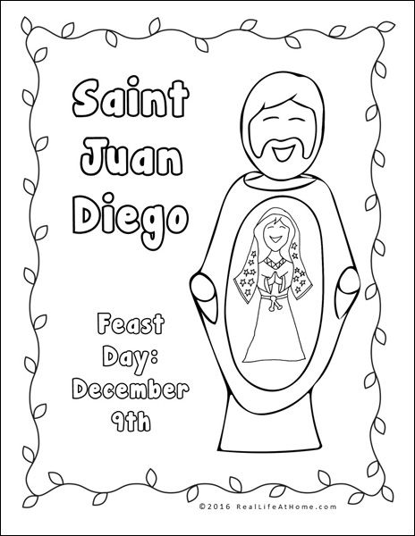 464x600 Our Lady Of Guadalupe Printables And Worksheet Packet Sunday