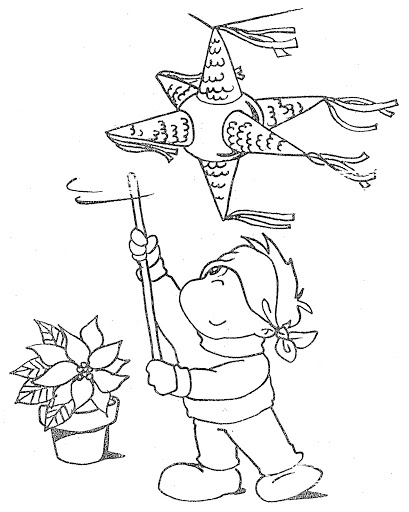 409x512 Coloring Pages January Las Posadas January