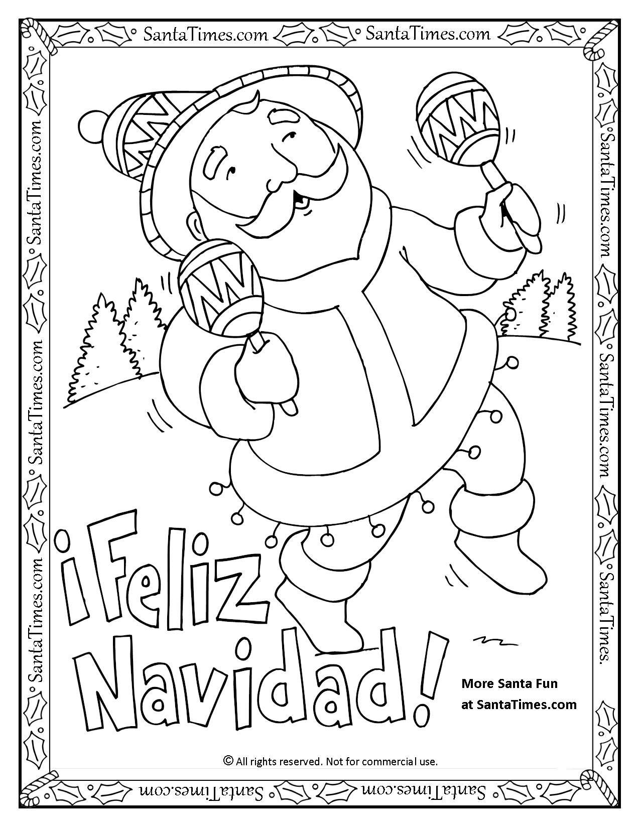 1275x1650 Feliz Navidad Printable Coloring Page Noel Quiere Desearles