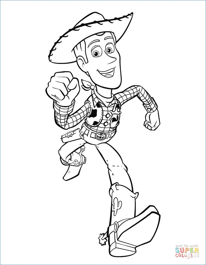 660x847 Sheriff Woody Plays Lasso Toy Story Coloring Pages