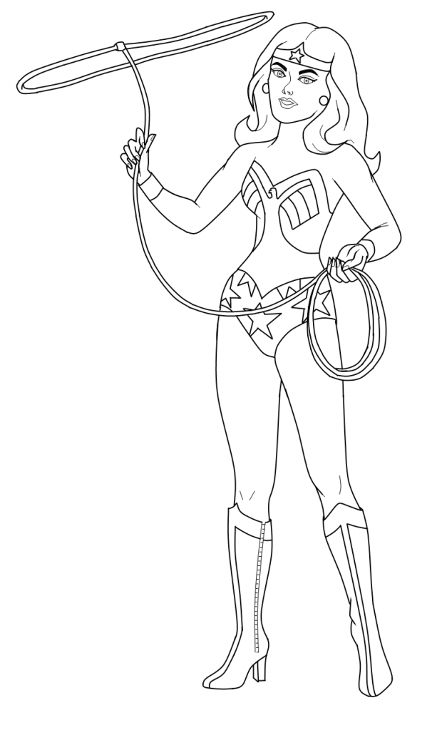 613x1024 Wonder Woman Coloring Pages