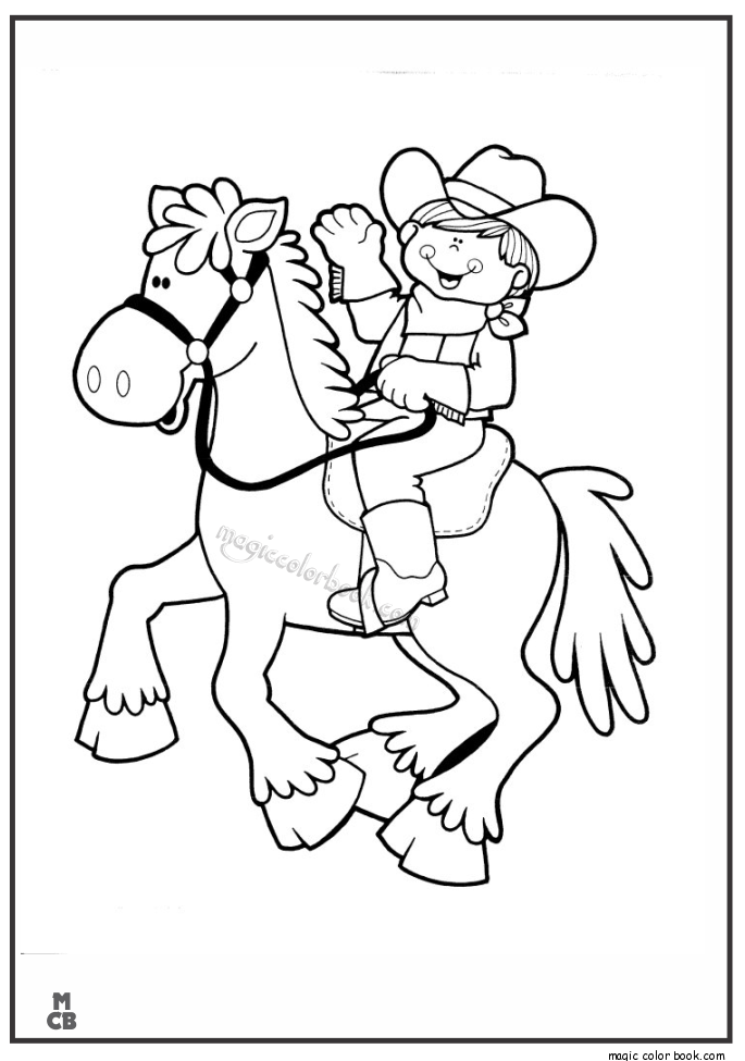 685x975 Little Cowgirl Cowboy Coloring Pages