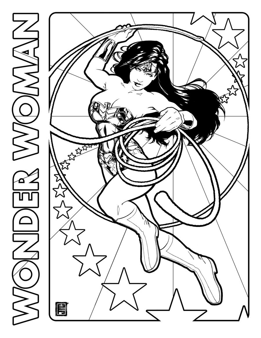 900x1165 Wonder Woman Day Coloring Page