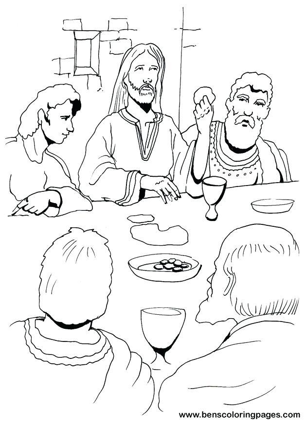 627x873 Leonardo Da Vinci Coloring Pages Delightful Decoration Last Supper