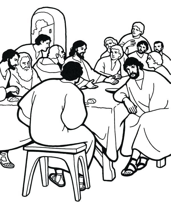600x710 Last Supper Coloring Page Coloring Pages Lent Coloring Sheets Lent