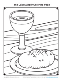 200x257 Last Supper Coloring Page For Maundy Thursday On Sunday School Zone