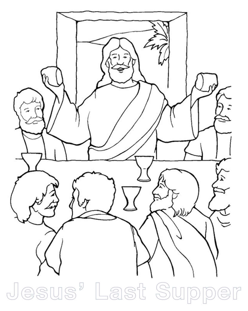 photograph relating to Last Supper Coloring Pages Printable identified as The perfect totally free Final dinner coloring site pics. Obtain