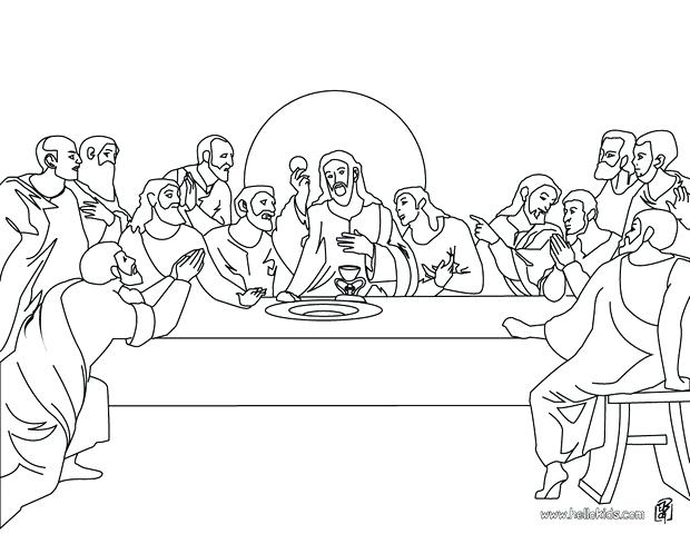 620x480 Crucifixion Coloring Pages The Last Supper Coloring Page Printable