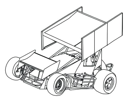 500x400 Dirt Late Model Coloring Pages Late Model On For Dirt Track Race