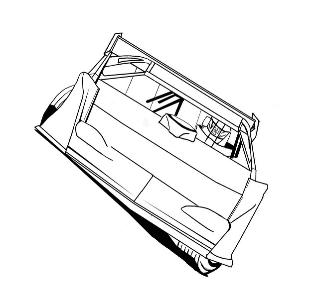 640x599 Dirt Late Model Coloring Pages