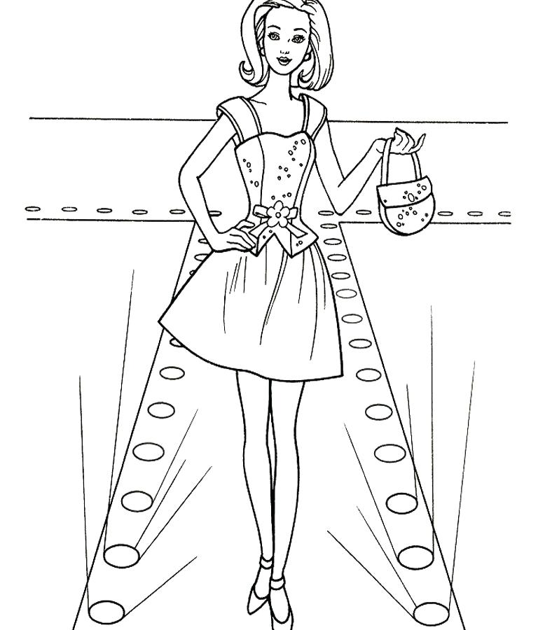 768x900 Fashion Model Coloring Pages
