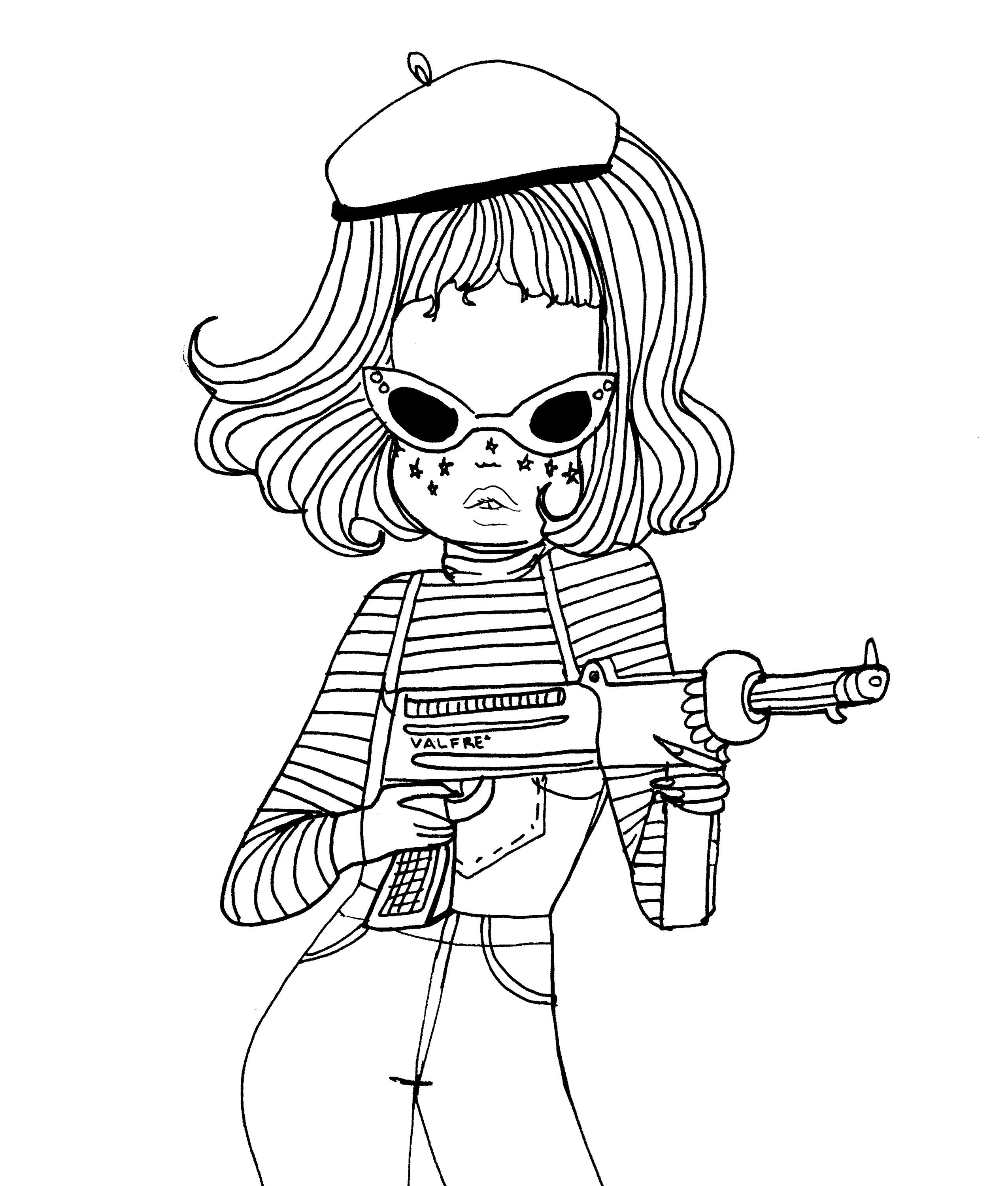 2550x3000 Metralleta Valfre Coloring Page Valfre