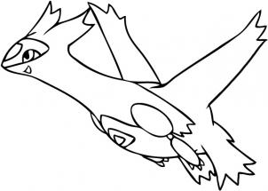 Latias Printable Legendary Pokemon Coloring Page for Kids to Print ... | 215x302