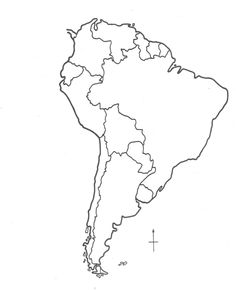 236x290 Map Of Central And South America Coloring Sheet