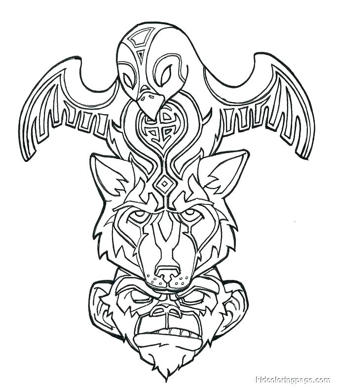 683x792 Cool Flag Outline Coloring Page Free Pages Or Cool Flag Outline