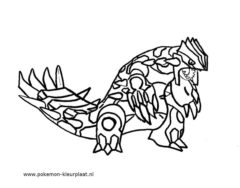 1010x791 Primal Groudon Coloring Page