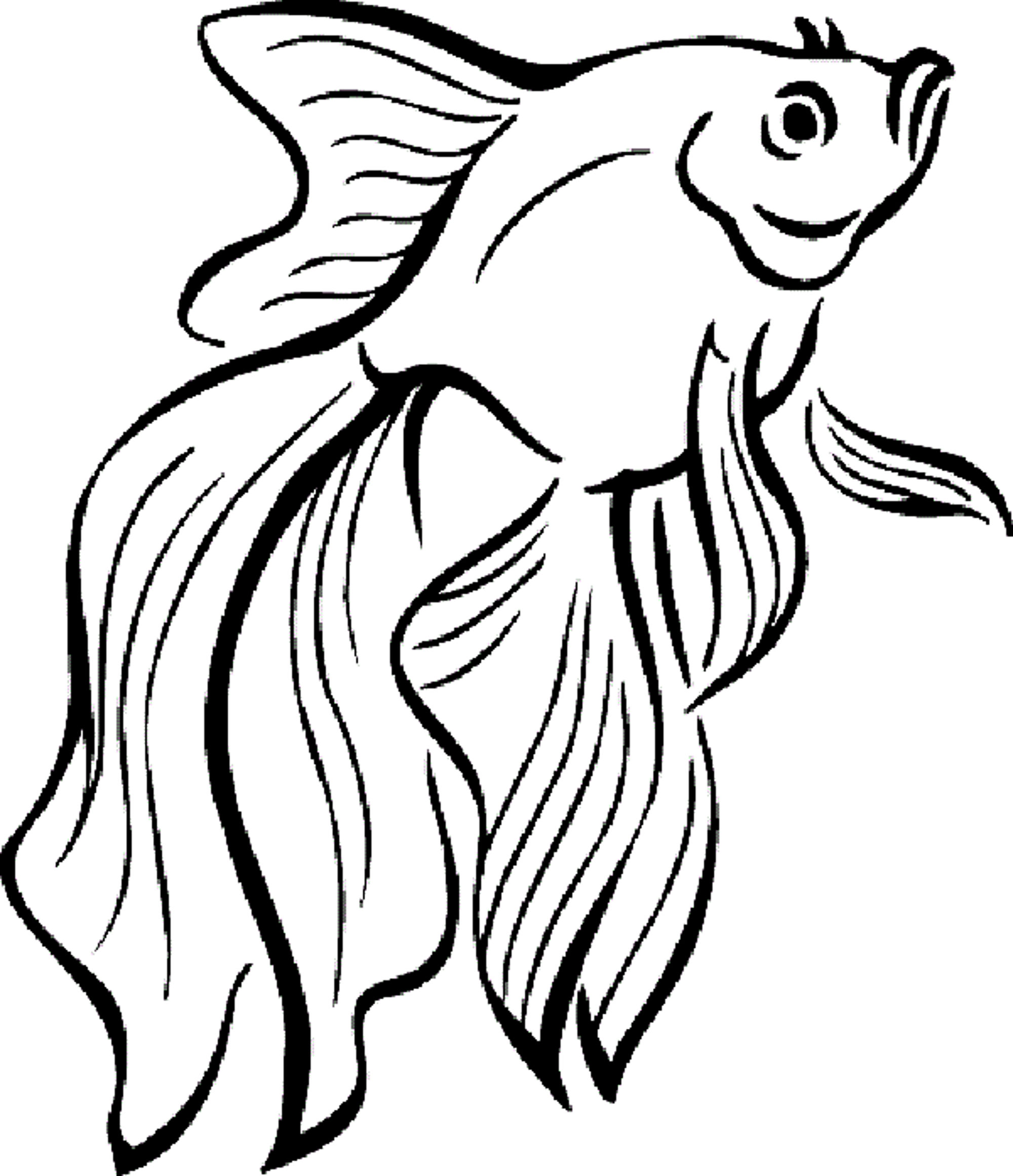2000x2323 Siamese Fighting Fish Coloring Pages