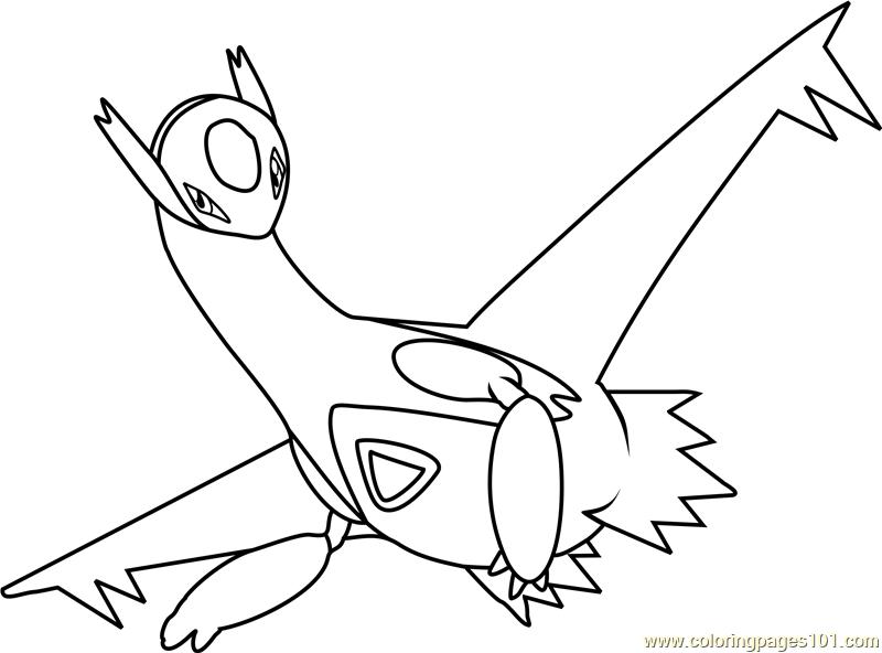 800x592 Latios Pokemon Coloring Page