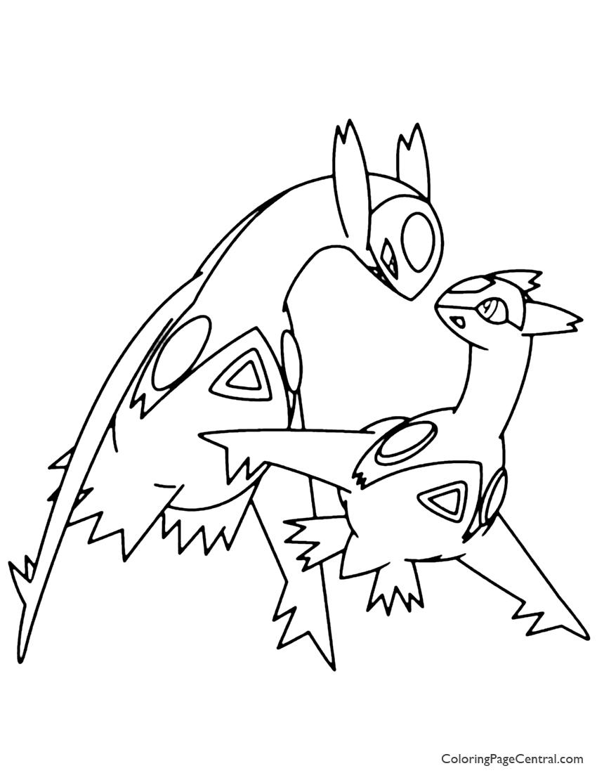 850x1100 Pokemon Latias And Latios Coloring Page Coloring Page Central