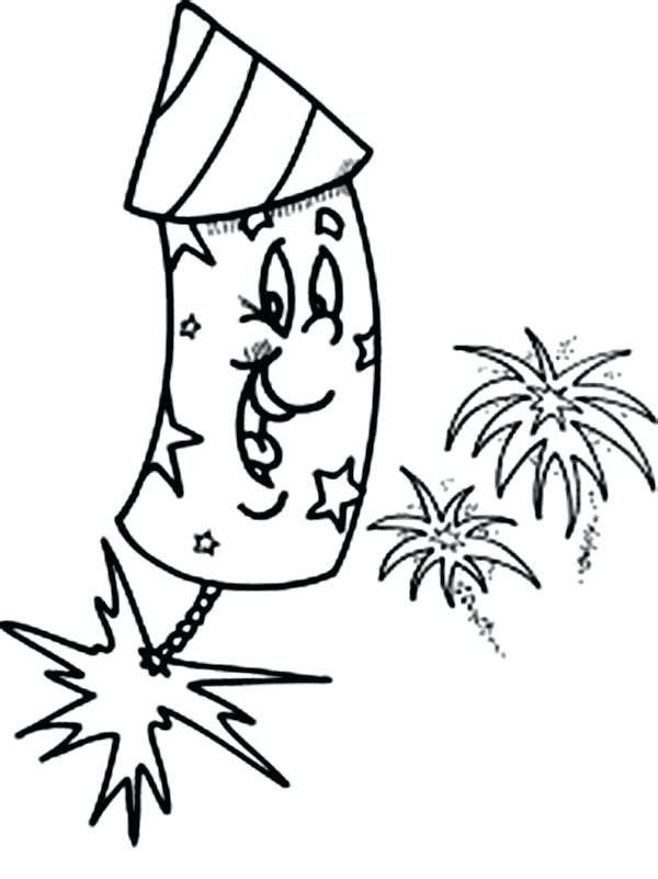 600x801 Firework Coloring Pages Laughing Fireworks Coloring Page Firework