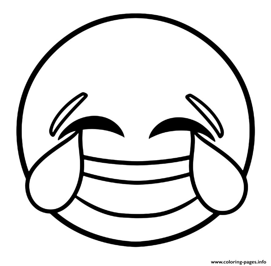 885x867 Printable Coloring Pages Emoji Emoji Laughing Face With Tears
